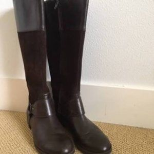 Ralph Lauren Sulita Leather & Suede tall boots